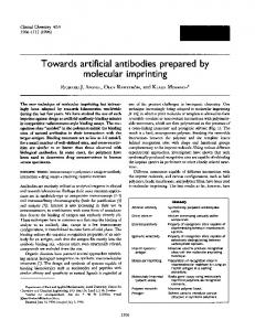Towards artificial antibodies prepared by ... - Clinical Chemistry