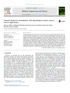 Towards bioreactor development with physiological motion control ...