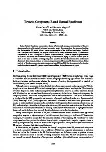 Towards Component-Based Textual Entailment - Association for ...