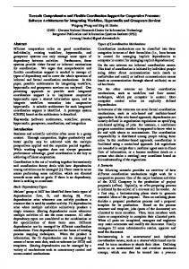 Towards Comprehensive and Flexible Coordination Support for ...