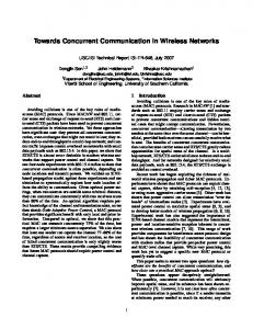 Towards Concurrent Communication in Wireless Networks