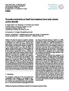 Towards constraints on fossil fuel emissions from ... - Atmos. Chem. Phys