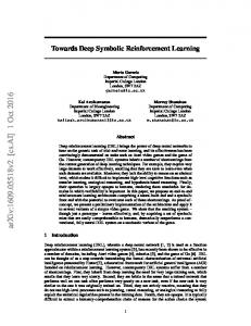 Towards Deep Symbolic Reinforcement Learning