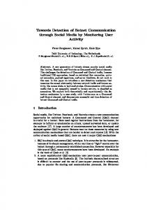 Towards Detection of Botnet Communication through Social Media by ...