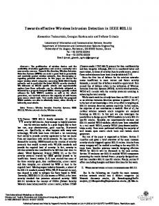 Towards effective Wireless Intrusion Detection in IEEE 802.11i