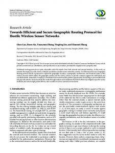 Towards Efficient and Secure Geographic Routing Protocol for Hostile ...