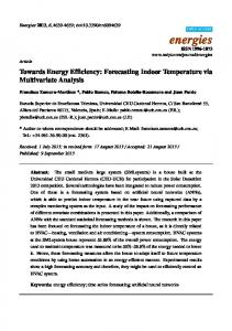 Towards Energy Efficiency: Forecasting Indoor Temperature ... - MDPI
