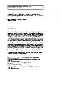 Towards Energy-Efficient Cooperative Spectrum ... - Semantic Scholar