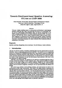 Towards Entailment-based Question Answering
