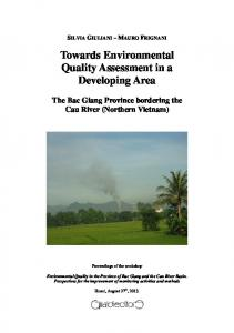 Towards Environmental Quality Assessment in a