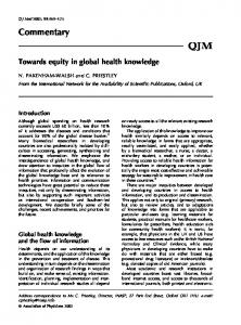 Towards equity in global health knowledge