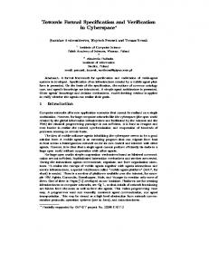 Towards Formal Speci cation and Veri cation in ... - CiteSeerX
