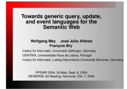 Towards generic query, update, and event languages for the Semantic ...