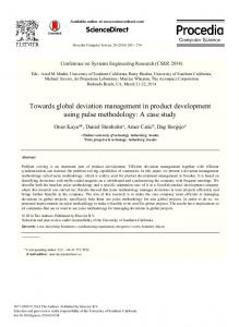 Towards Global Deviation Management in Product Development ...