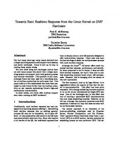 Towards Hard Realtime Response from the Linux Kernel on SMP ...