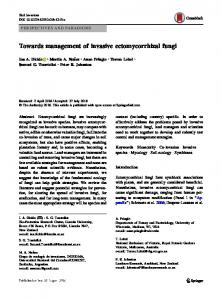 Towards management of invasive ectomycorrhizal fungi