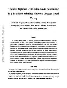 Towards Optimal Distributed Node Scheduling in a Multihop Wireless ...