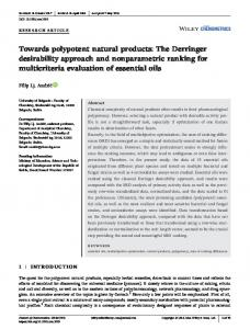 Towards polypotent natural products: The Derringer ...