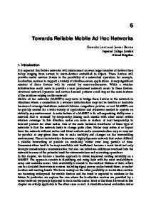 Towards Reliable Mobile Ad Hoc Networks