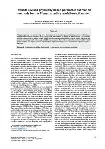 Towards revised physically based parameter estimation methods for ...