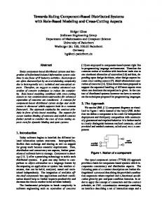 Towards Ruling Component-Based Distributed ... - Semantic Scholar