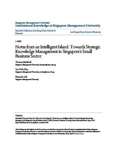 Towards Strategic Knowledge Management in Singapore's Small ...
