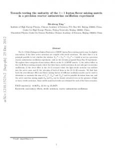 Towards testing the unitarity of the 3X3 lepton flavor mixing matrix in a