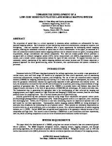 towards the development of a low-cost remotely-piloted land mobile ...