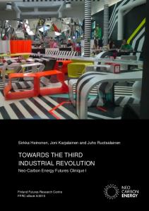 TOWARDS THE THIRD INDUSTRIAL REVOLUTION
