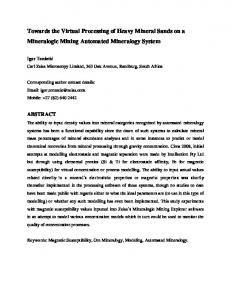 Towards the Virtual Processing of Heavy Mineral ...