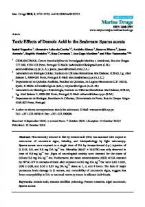 Toxic Effects of Domoic Acid in the Seabream ... - Semantic Scholar