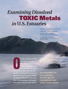 TOXIC Metals - ACS Publications - American Chemical Society