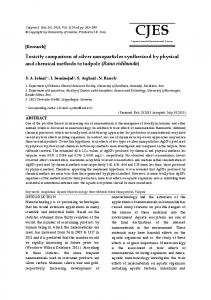 Toxicity comparison of silver nanoparticles synthesized by physical ...