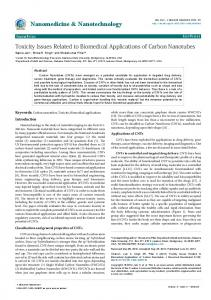 Toxicity Issues Related to Biomedical ... - OMICS International