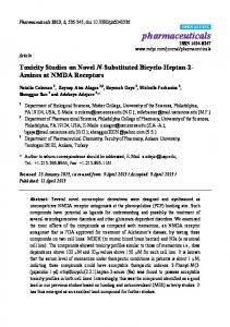 Toxicity Studies on Novel N-Substituted Bicyclo