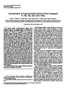 Toxicokinetics of Polybrominated Diphenyl Ether ... - Oxford Journals