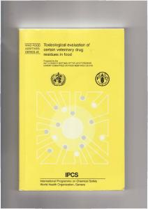 Toxicological evaluation of certain veterinary drug ...