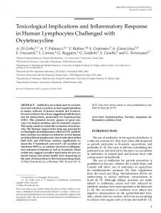 Toxicological Implications and Inflammatory Response in Human ...