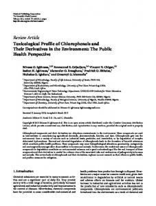 Toxicological Profile of Chlorophenols and Their Derivatives in the ...