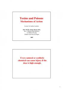 Toxins and Poisons