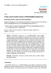 Toxins and Secretion Systems of Photorhabdus ... - BioMedSearch