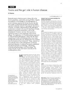 Toxins and the gut: role in human disease - Europe PMC
