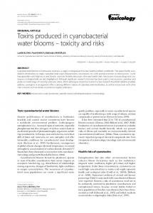Toxins produced in cyanobacterial water blooms ... - BioMedSearch