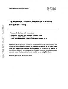 Toy Model for Tachyon Condensation in Bosonic String Field Theory