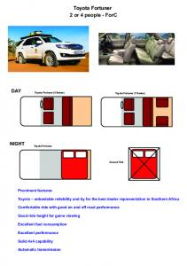 Toyota Fortuner 2 or 4 people - ForC