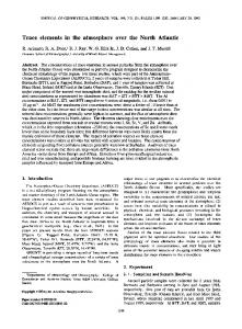 Trace elements in the atmosphere over the ... - Wiley Online Library