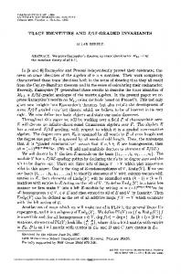 trace identities and z/2z-graued invariants - American Mathematical ...