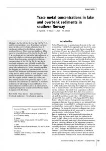 Trace metal concentrations in lake and overbank sediments in ...