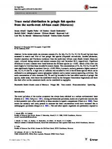 Trace metal distribution in pelagic fish species from ...