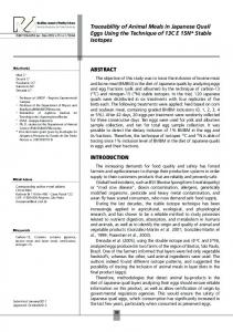 Traceability of Animal Meals in Japanese Quail Eggs Using ... - Scielo.br